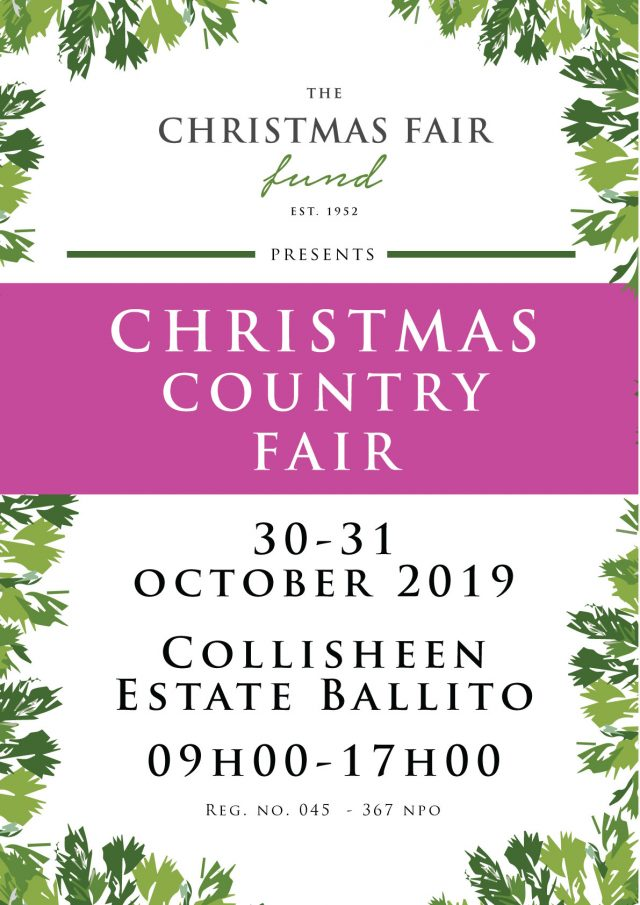 Christmas country fair poster